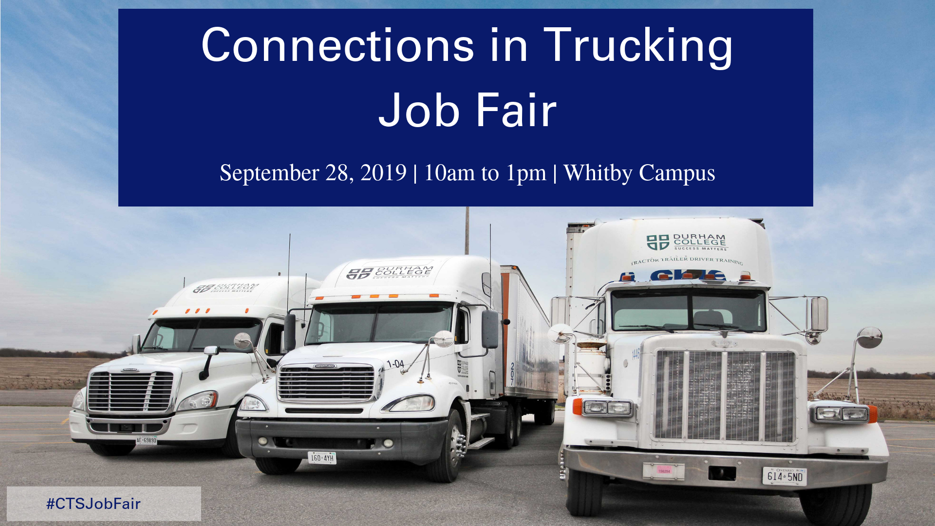 Connections in Trucking Sept 28 10am to 1pm